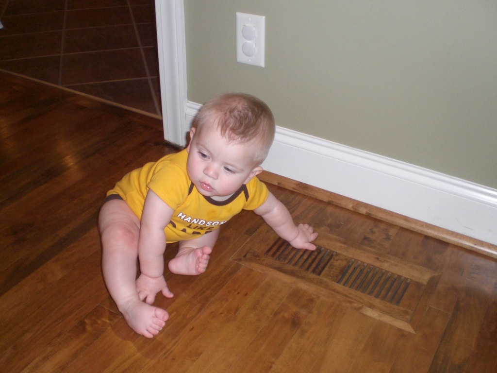 baby and air vent