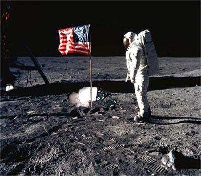 baby planking moon landing 1969