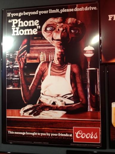ET beer Coors poster