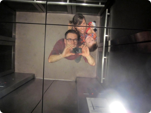 elevator ceiling selfie