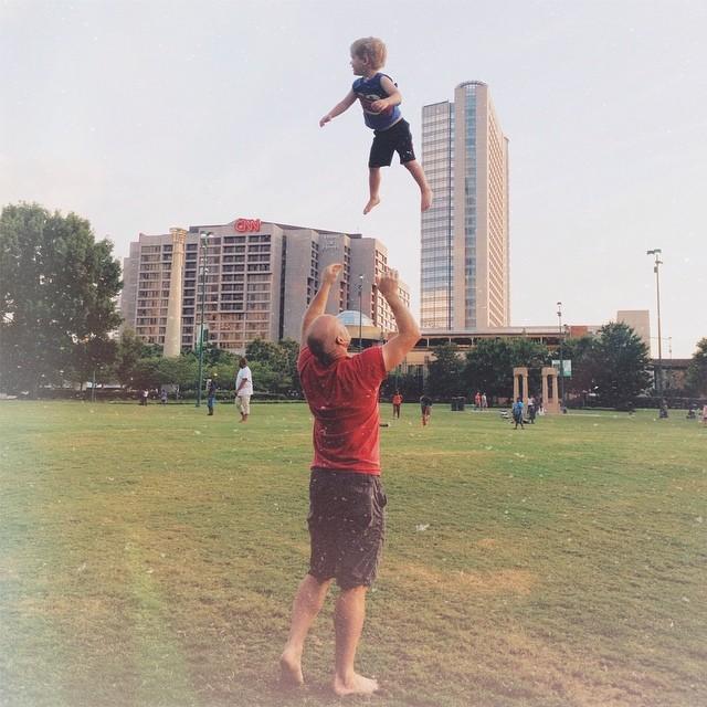Joe Hendricks Photography throwing son in the air