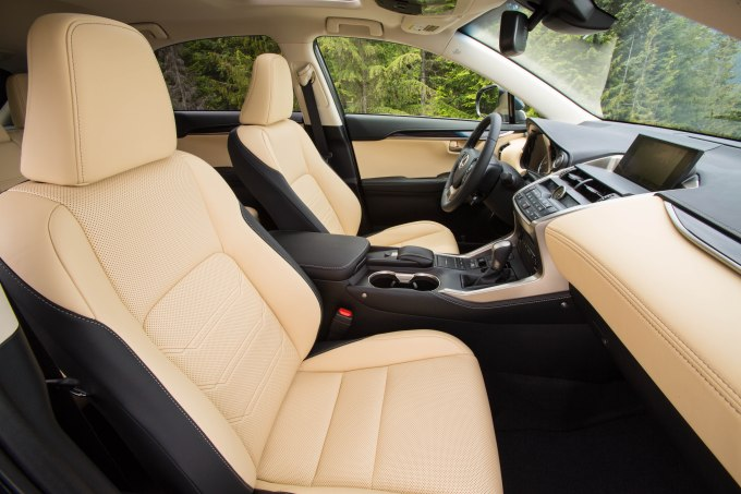 Luxury Package of 2015 Lexus NX 200t F Sport: 7 Professional Photos