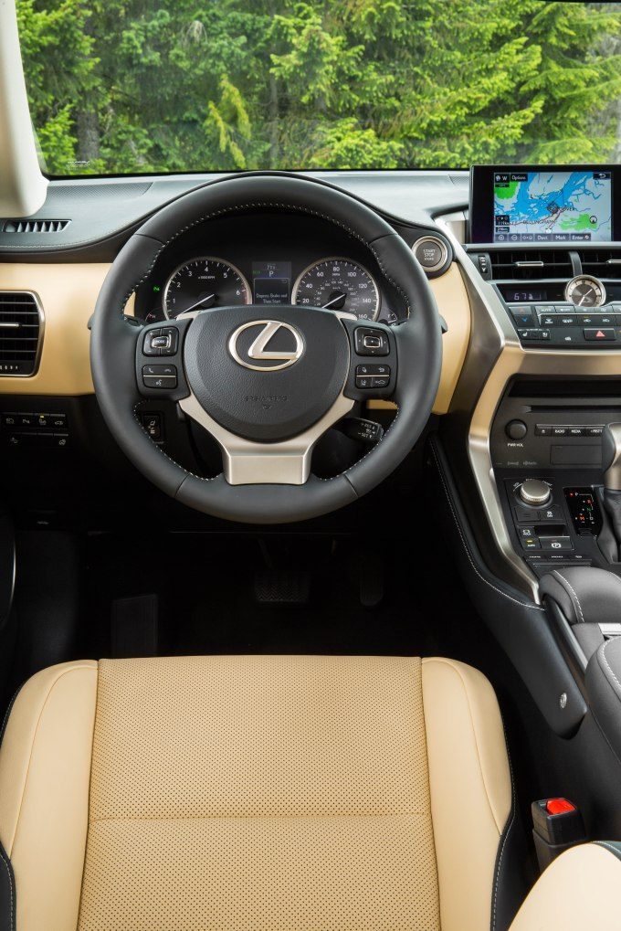 Luxury Package of 2015 Lexus NX 200t F Sport: 7 Professional Photos steering wheel