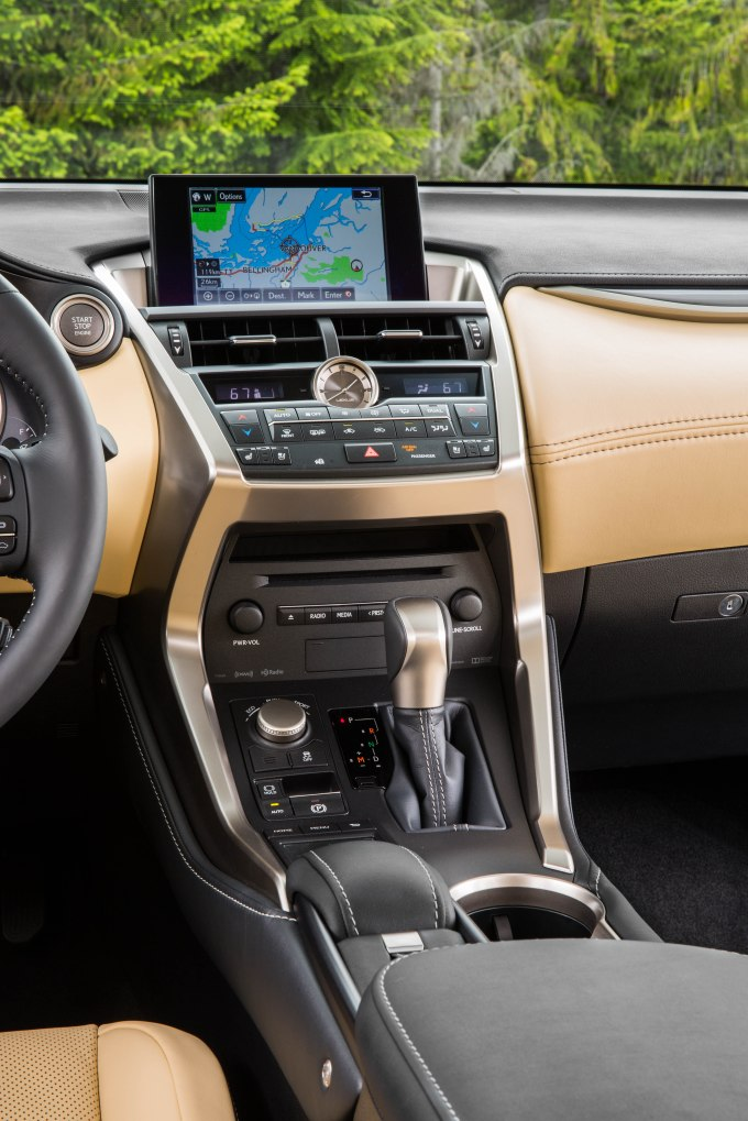 dashboard Luxury Package of 2015 Lexus NX 200t F Sport: 7 Professional Photos