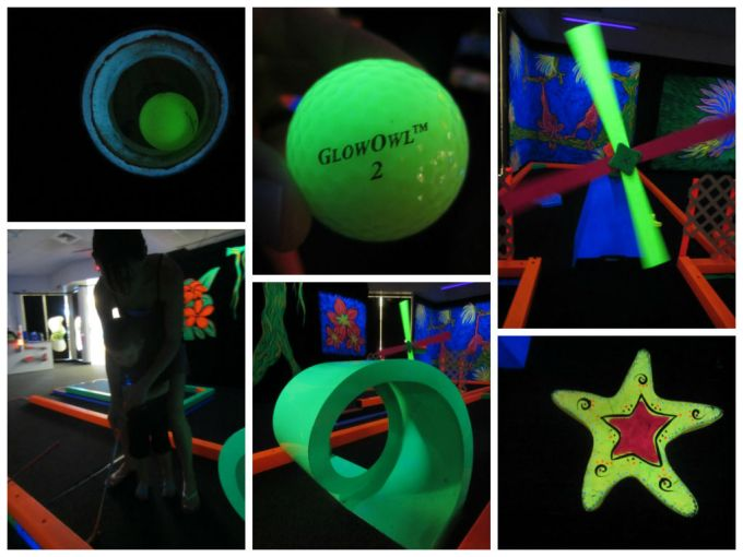 GlowGolf (Real Glow-In-The-Dark Miniature Golf) A Family Friendly Review