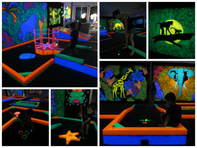 GlowGolf: Real Glow-In-The-Dark Miniature Golf- A Family Friendly Review
