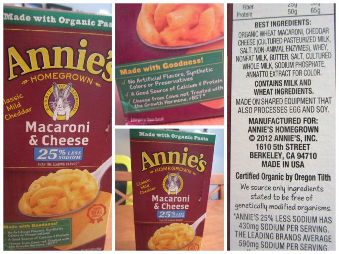 Experiment: Compare Annie's Homegrown Ingredients A Year From Now