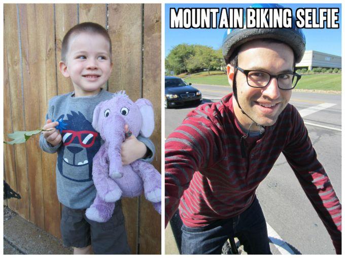 mountain biking selfie