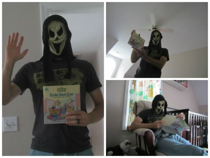 Dear Jack: Reading Bedtime Stories With A Scream Mask On
