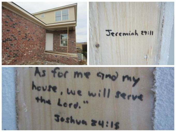 Dear Jack: Writing Bible Verses On Our Unfinished House