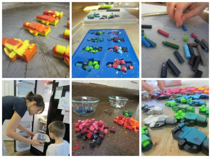 Making Cool Party Favors By Baking Crayons In Lego Man Molds