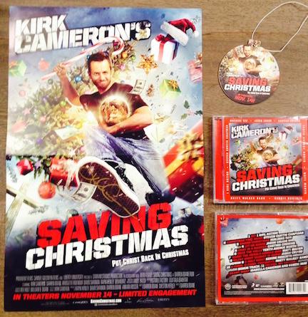 Kirk Cameron's Saving Christmas giveaway