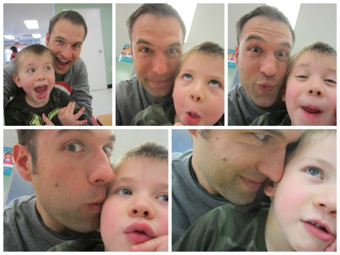 father and son selfies