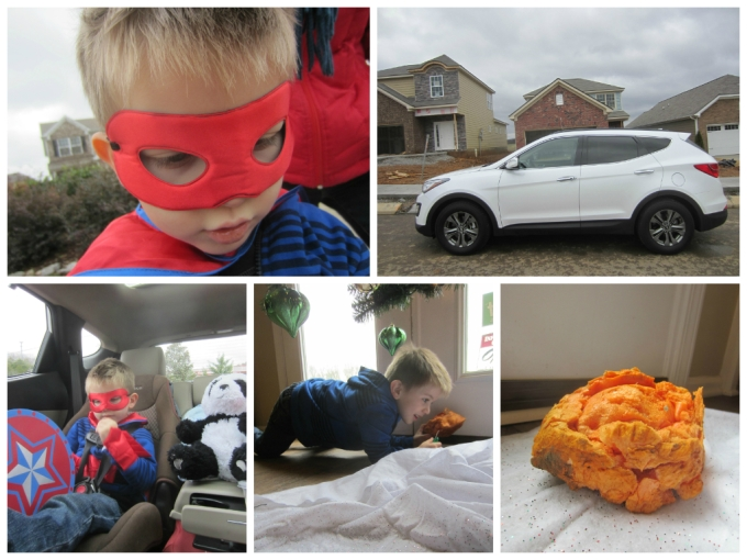 Dressing As A Super Hero For Abby's Birthday/2014 Hyundai Santa Fe Weekend
