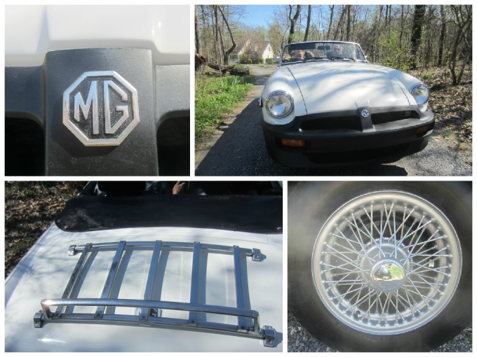 White 1980 MG MGB Convertible