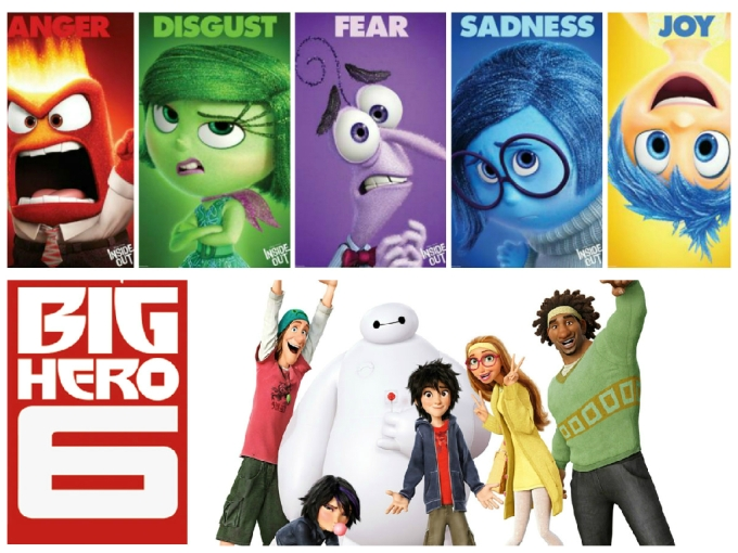 5 Reasons Why Inside Out is the More Feminine Version of Big Hero 6