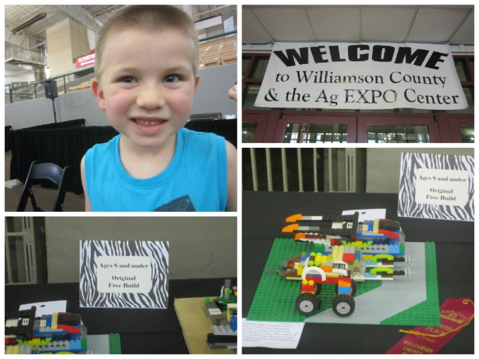Dear Jack: You Won 2nd Place in the County Lego Competition!