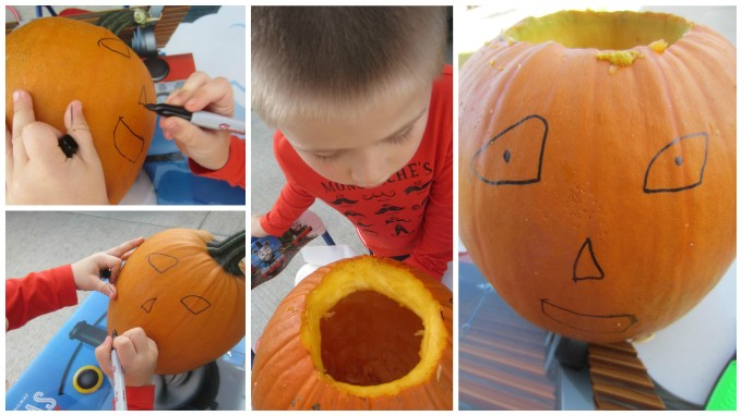Dear Jack: Our First Time to Carve Pumpkins