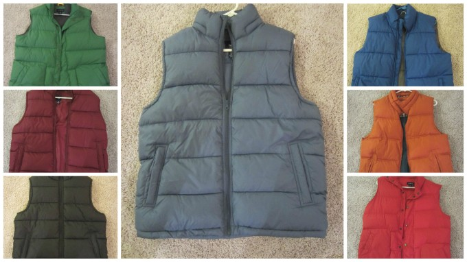Why I Own 7 Puffy Vests (or 3 Reasons I Don't Own a Jacket or Coat, or 3 Reasons Puffy Jackets are Better Than Jackets or Coats)