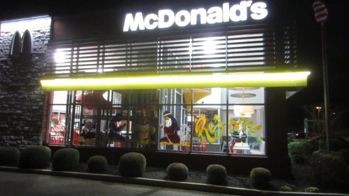 "The McDonald's Here in Spring Hill, TN, is Going Viral: Nativity Scene Proclaims ""His Name is Jesus"""