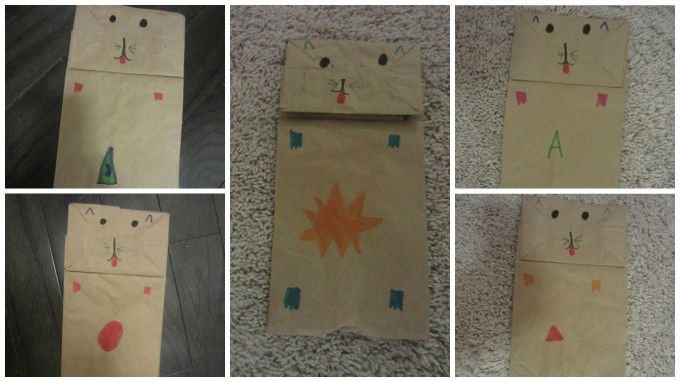 """Dear Jack: Your """"Care Cats"""" Puppets Made from Brown Paper Sacks"""