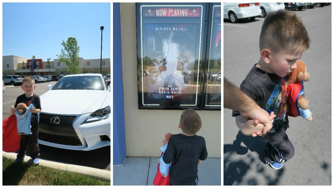 Dear Jack: We Saw Captain America Civil War on Opening Weekend & Bought Mother's Day Gifts (in the 2016 Lexus IS 200t)