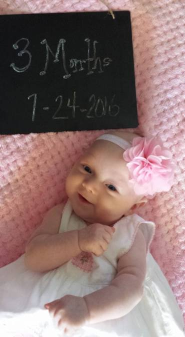 Dear Holly: You are Now 3 Months Old