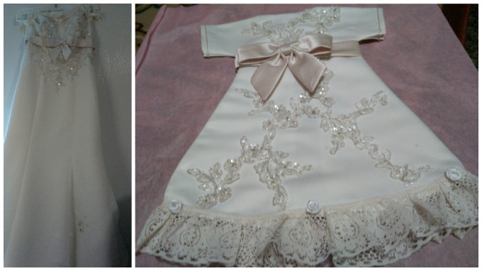 My Wife's Wedding Dress has Been Transformed into Several Infant Gowns for Families Who Have Lost an Infant (Nae Nae Little Angel Gowns)