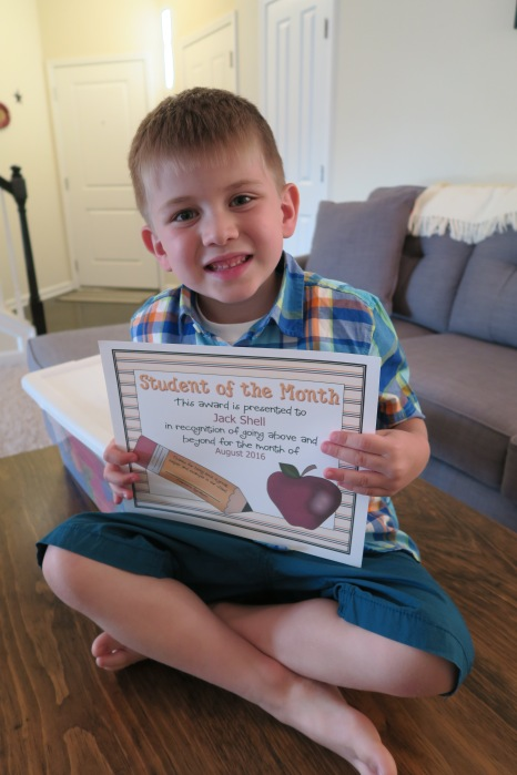 "Dear Jack: You were Chosen as the 1st ""Student of the Month"" by Your Kindergarten Teacher (Despite My Parenting Style)"