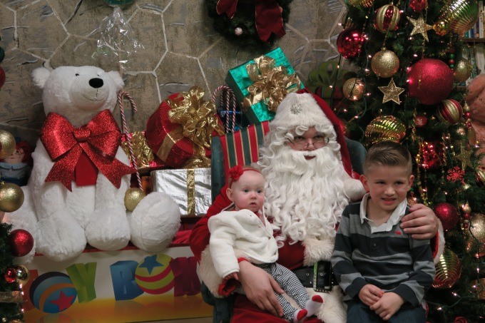 Dear Holly: A Weekend of Crawling, Pink Eye, and Getting Your Picture Taken with Santa