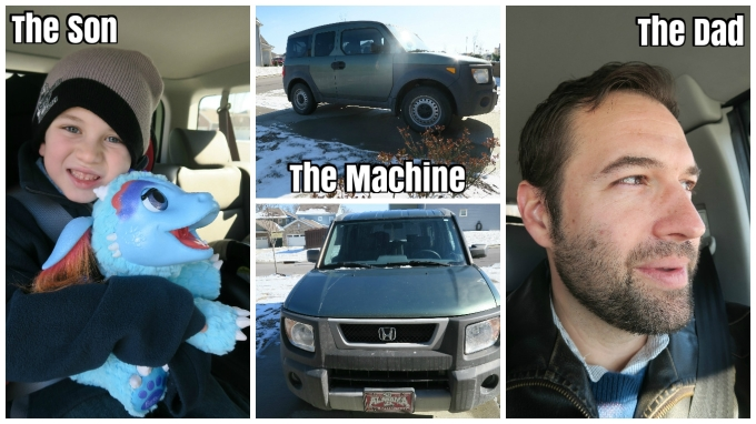 Dear Jack: 1st Snow of 2017 (Weekend of Manliness! in a 2004 Honda Element, Part 1/3)