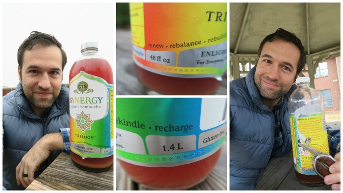 The Manly Vegan Vs. 48 Ounce GT's Synergy Trilogy Kombucha